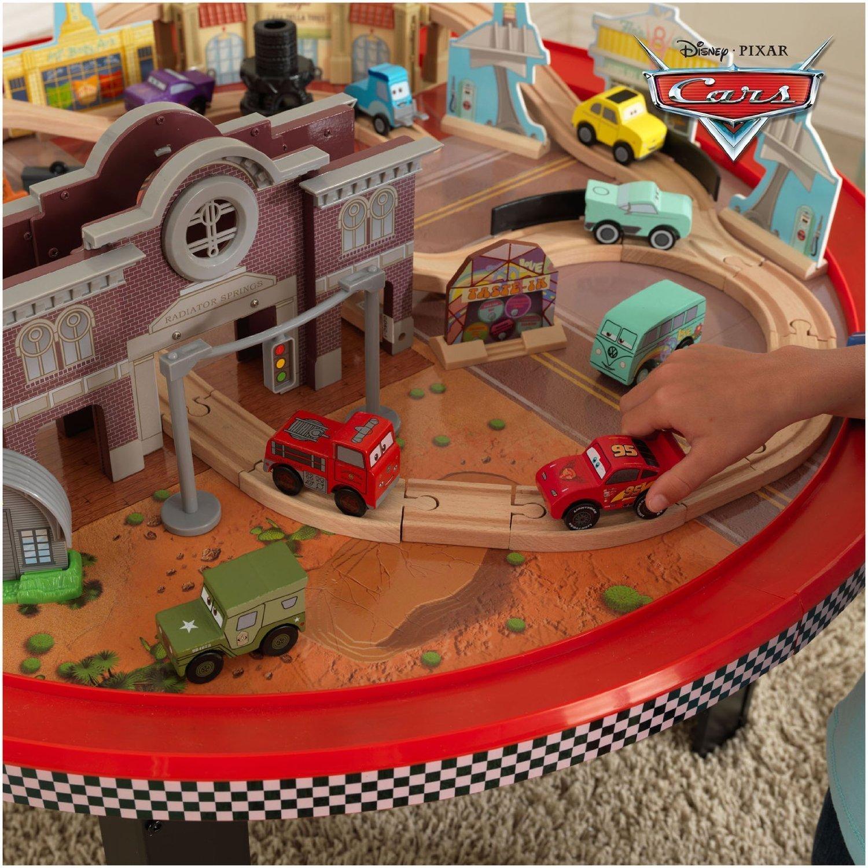 Kidkraft 18002 Kids Disney Cars Cadillac Range Train Table