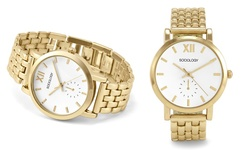 Sociology Women's 7-Link Metal Bracelet Watches - Rose Gold (4018C-SC)