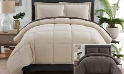 Victoria Classics Lincoln Comforter Set - Taupe/Chocolate - Sz: Full - 7Pc