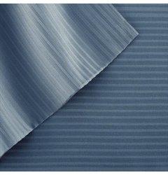 Amrapur 400TC Pin Stripe Bed Sheet Set - Denim Blue - Size: Full