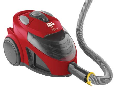 Dirt Devil Easy Lite Canister Vacuum Cleaner Red Gray