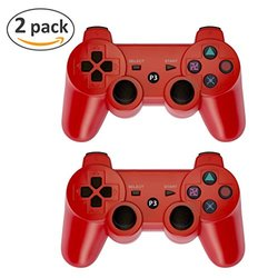 Ps3 Bluetooth Controllers: Red (2-pack)