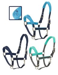 Centaur Fleece Cushion Breakaway Halter Oversize Navy/Navy Navy/Turquoise