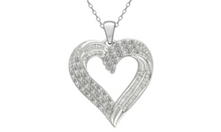0.50 CTTW Diamond Heart Pendant in Sterling Silver