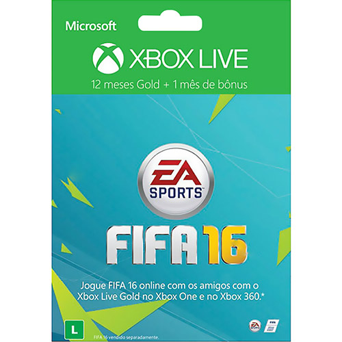 Xbox Live Gold 12 Months FIFA 16 + 1 Month EA Access Card - Check Back Soon
