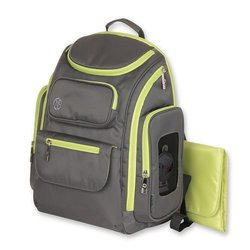 Jeep Organizer Easy Access Back Pack Diaper Bag - Gray/Green 799560