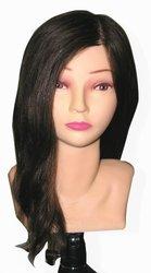Celebrity Amanda Cosmetology Human Hair Manikin, 21-Inch
