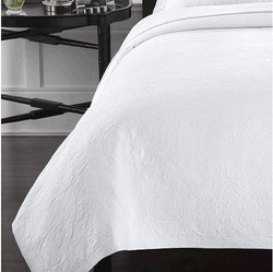 Lamont Simone Coverlet - White - Size: Full/Queen