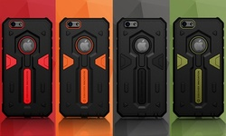 Shockproof Armorbox 2-Layer Hard/Soft Case for iPhone 6/6s Plus - Red