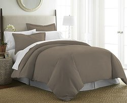 Luxury Linens 3 Piece Duvet Cover Set - Taupe - Size: King/CalKing