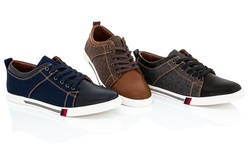 Franco Vanucci Men's Sneakers - Navy - Size: 12