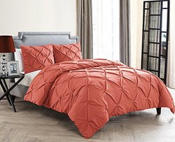 Carmen Duvet 3 Piece Set: Coral/king