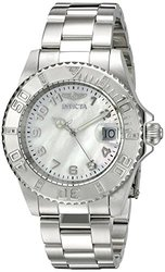 Invicta Men's Watch: 21532SYB Silver Band-Mother of Pearl Dial