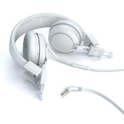 JLab Intro Premium On Ear Headphones with Universal Mic - White