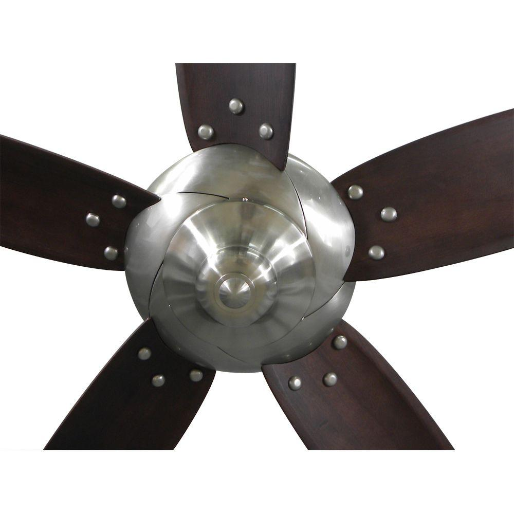 Home Decorators Collection 26656 Altura 56 Ceiling Fan Brushed Nickel
