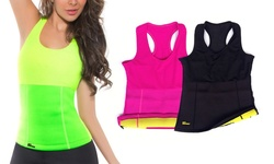 Slimming Shaper Racer Back Tank - Black/large