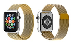 Faly Mesh Milanese Loop Band for 42mm Apple Watch - Gold Tone