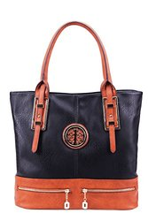 Mia K. Farrow Isabelle Tote Designer Handbag - Black