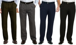 Uomo Belted Dress Pants: Black/taupe - 38/30