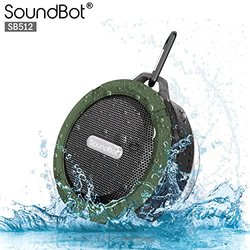 SoundBot HD Water & Shock Resistant Bluetooth Wireless Shower Speaker