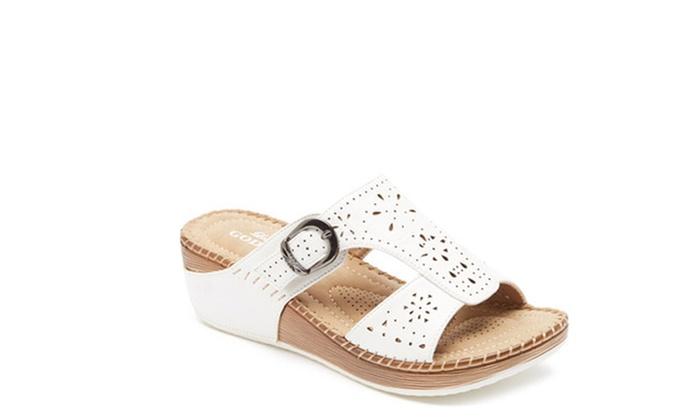 e79f1778e33 Lady Godiva Comfort Wedge Sandal - White - Size  6.5 - Check Back ...
