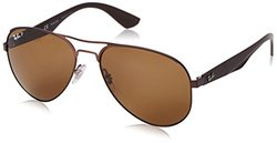 Ray-Ban Unisex Polarized Sunglasses - Brown Frames/Brown Lens