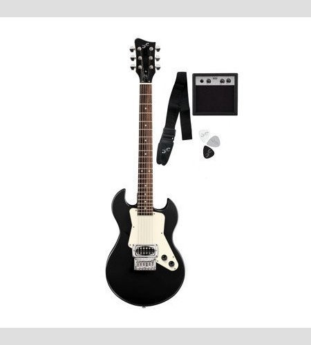 First Act Adam Levine Solid Body Electric Guitar Black White Al223