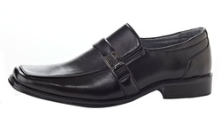 Henry Ferrera Men's Slip on Dress Shoes - Black - Size: 10.5