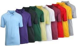 Men's Premium Quality Pique Polo -burgundy- Large