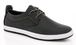 Franco Vanucci Men's Lace Up Sneakers - Gray - Size: 13