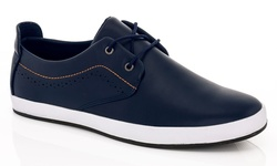 Franco Vanucci Men's Lace-up Sneakers - Navy - Size: 11