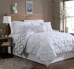 7-Piece Comforter Set: King/Ella-White