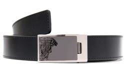 Versace Men's V91002S Leather Belt - Black