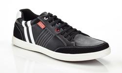 Franco Vanucci Men's Jess-1 Sneakers - Black - Size:12