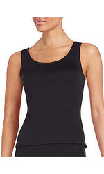Saks Fifth Avenue RED Crossback Top Black - Size: Small
