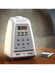 Hammacher Schlemmer Peaceful Progression Wakeup Clock - White