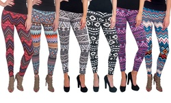 Magid Women's Printed Leggings - Assorted - Size: S/M - 6-Pack