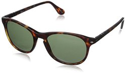Persol Women's Sunglasses - Brown Leopard Frame/Green Lens