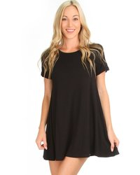 Lyss Loo Reporting for Cutie T-Shirt Dress - Black - Size: Medium