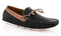 Franco Vanucci Men's Drive 517 Casual Loafers - Black - Size: 11