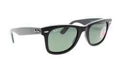 Ray Ban Sunglasses Polarized Lenses - Black/Green - Size: 50