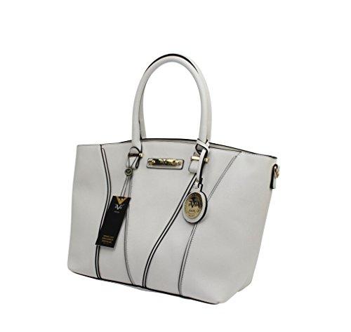 978d82df8c ... Versace 19v69 Italia- Mia Tote Luxury Fashion Woman Handbag - Off White  ...