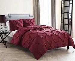 Vcny Carmen 4 Piece Comforter Set - Burgundy - Size: King
