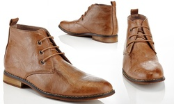 Franco Vanucci Men's Chukka Boots - Tan - Size: 10.5