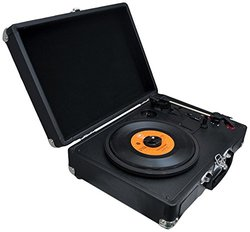 PYLE PVTTBT6BK Bluetooth Classic Vintage Style Vinyl Player Turntable, Vinyl-To-MP3 Record, Rechargeable Battery