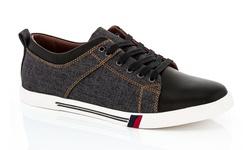 Franco Vanucci Men's Sneakers - Black - Size: 10.5