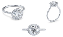 Sevil Women's Halo-Cut Engagement Ring - Size: 6