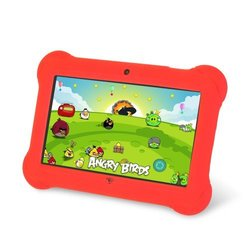 Orbo Jr. 4GB 7 Kids Tablet with Android OS and Silicone Gel Case - Red
