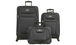 Skyway Discovery Set of 3 Soft Sided Luggage - Black