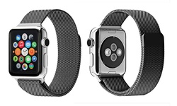 Faly Time World Milanese Loop Band for Apple Watch - Black - Size: 38MM